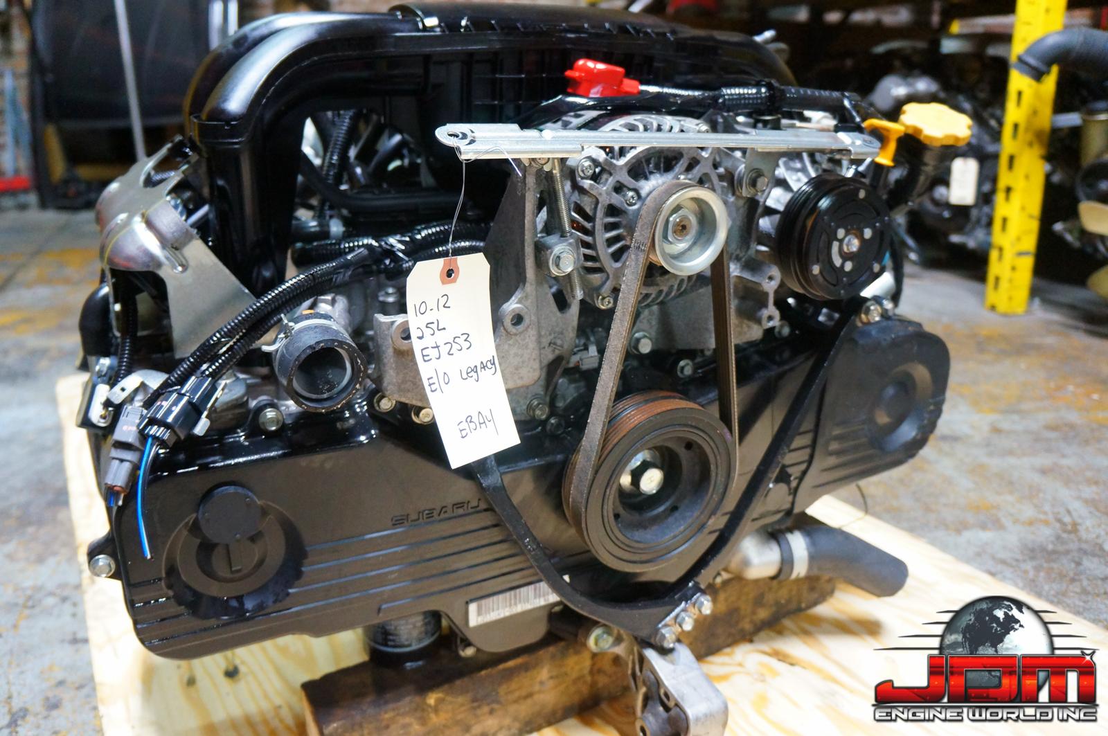 10 11 12 SUBARU LEGACY OUTBACK FORESTER EJ25 ENGINE ONLY 2.5L SOHC JDM EJ25