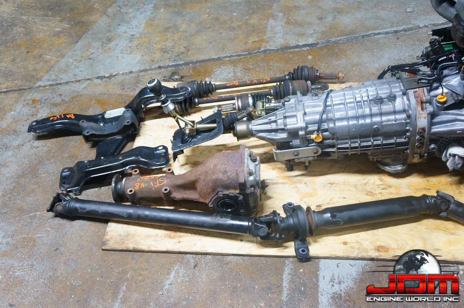 JDM SUBARU IMPREZA WRX STI 2.0L V8 TURBO ENGINE 6-SPEED MANUAL AWD TRANSMISSION